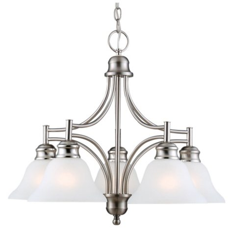 Bristol by Design House Chandelier - Satin Nickel