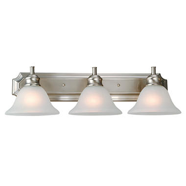 Design House 3-Light Vanity Light Bristol Collection - Satin Nickel