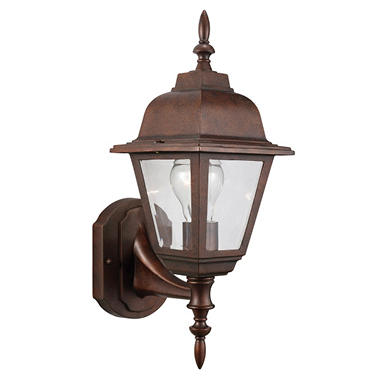 Maple Street by Design House Outdoor Uplight - Washed Copper
