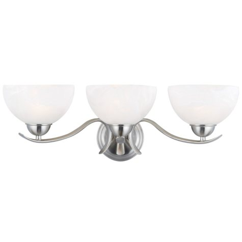 Design House 3-Light Vanity Light Trevie Collection - Satin Nickel
