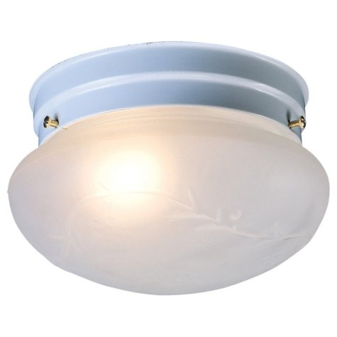 "Hardware House 5"" x 7"" Single Ceiling Light - White"