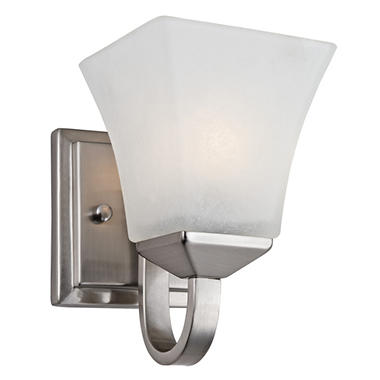 Design House 1-Light Wall Mount Torino Collection - Satin Nickel