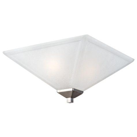 Design House 2-Light Ceiling Mount Torino Collection - Satin Nickel
