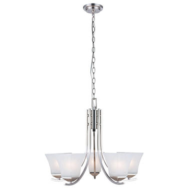 Design House 5-Light Chandelier Torino Collection - Satin Nickel