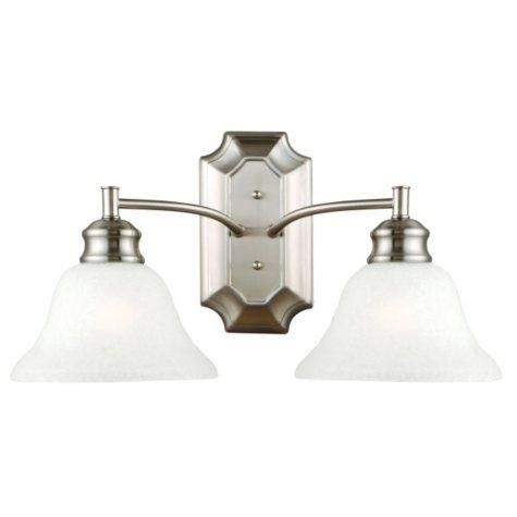 Bristol by Design House Wall Light - Satin Nickel