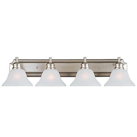 Design House 4-Light Vanity Light Bristol Collection - Satin Nickel