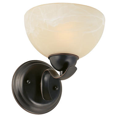 Design House 1-Light Wall Mount Trevie Collection - Oil Rubbed Bronze