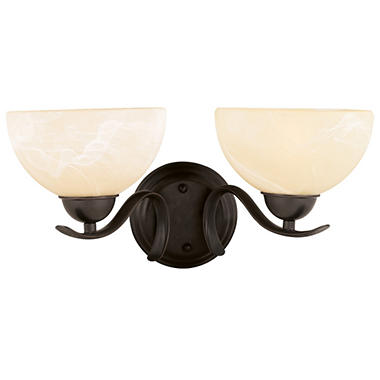 Design House 2-Light Wall Mount Trevie Collection - Oil Rubbed Bronze