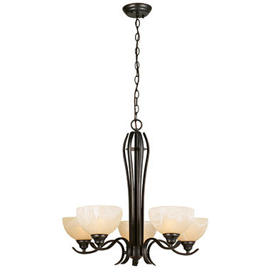 Design House 5-Light Chandelier Trevie Collection - Oil Rubbed Bronze