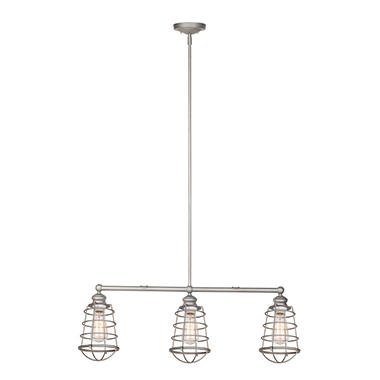 Ajax 3-Light Galvanized Indoor Pendant