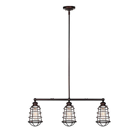 Ajax 3-Light Textured Indoor Pendant - Coffee Bronze