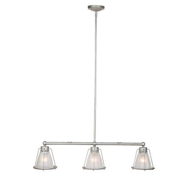 Essex 3-Light Galvanized Indoor Pendant