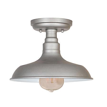 Kimball 1-Light Galvanized Indoor Ceiling Mount