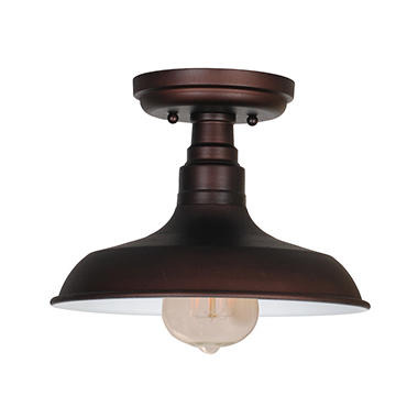 Kimball 1-Light Textured Indoor Ceiling Mount Fixture- Coffee Bronze