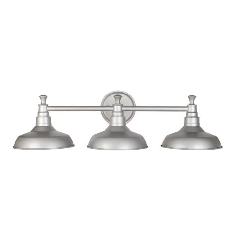 Kimball 3-Light Galvanized Indoor Vanity Light