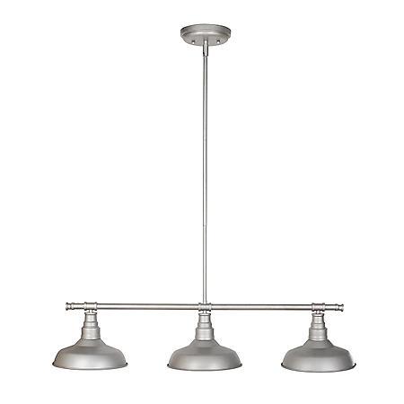 Kimball 3-Light Galvanized Indoor Pendant