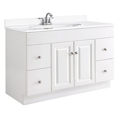 Design House Wyndham White Semi Gloss Vanity Cabinet Sams Club