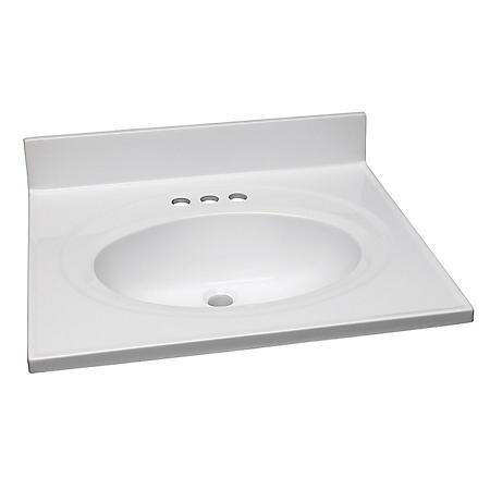 Design House Single Bowl Marble Vanity Top