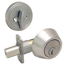 Hardware House Single Cylinder Deadbolt w/ Satin Nickel Finish