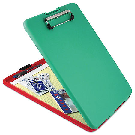 """Saunders SlimMate Show2Know Safety Organizer, 1/2"""" Clip Capacity, 9"""" x 11 3/4"""", Red/Green"""