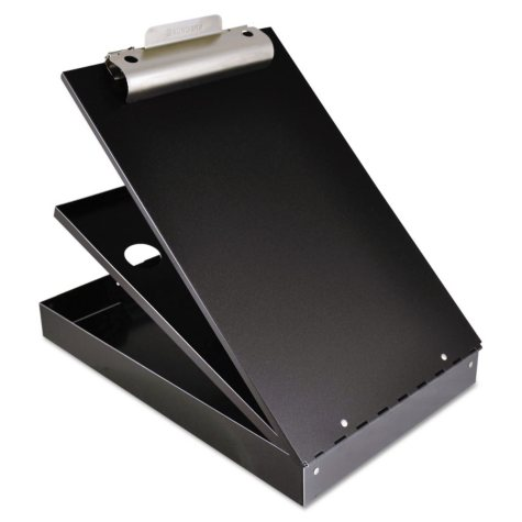 "Saunders - Cruiser Mate Aluminum Storage Clipboard, 1"" Capacity, Holds 8 1/2 x 12 -  Black"