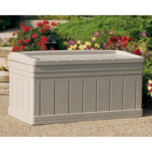 Suncast Deck Box w/Seat - 129 gallon