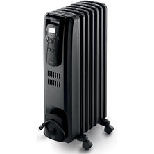 DeLonghi EW7507EB Safeheat 1500W Portable Digital Oil-Filled Radiator - Black