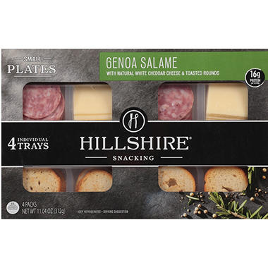 Genoa Salame and Cheddar Cheese Snack Plates (4 pk.)