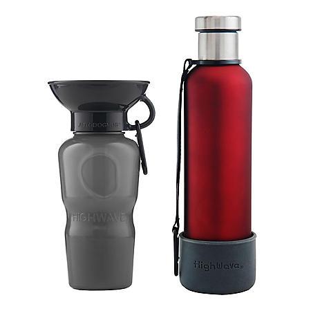 Highwave AutoDogMug & Me H20 Pup Pack, 2 - 22 fl. oz. Bottles (Choose Your Color)