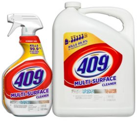 Formula 409 Multi Surface Cleaner, Original Scent, 32 Oz. Spray Bottle and 180 Ounce Refill