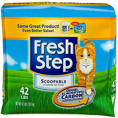 Fresh Step Scoopable Cat Litter  Lbs