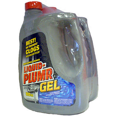 Liquid-Plumr® Gel Clog Remover - 2/80 oz. jugs