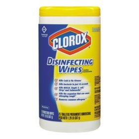Clorox Disinfecting Wipes, Lemon Fresh (75 ct. each, 6 pk.)