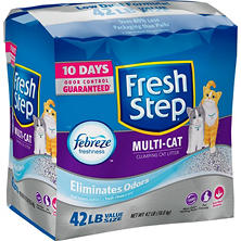 Fresh Step Multi-Cat with Febreze Clumping Cat Litter (42 lbs.)