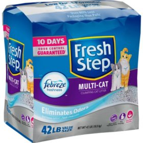 Fresh Step Multi-Cat with Febreze Freshness, Clumping Cat Litter, Scented (42 lbs.)