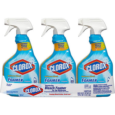 Clorox Bleach Foamer Bathroom Spray, 3 pk., 30 oz. Bottles