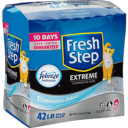 Fresh Step Extreme Scented Litter with the Power of Febreze, Clumping Cat Litter (42 lbs.)