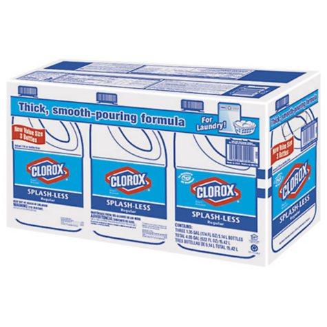 Clorox® Splash-Less Regular Bleach - 3/1.35 gal.