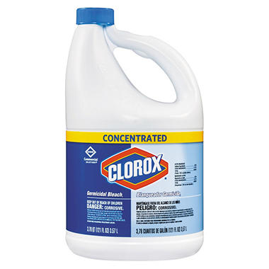Clorox Germicidal Bleach, Concentrated (3 pk., 121 oz. Bottles)