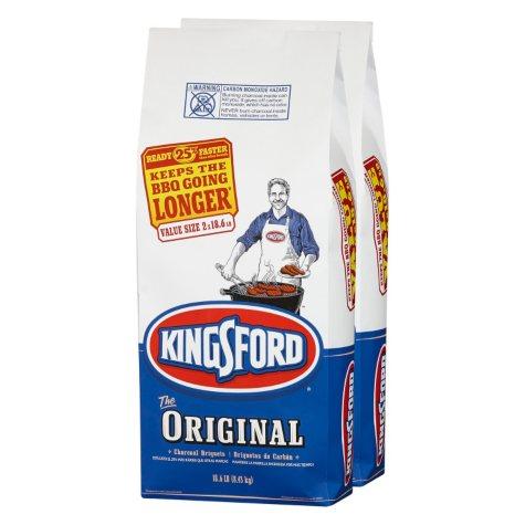 Kingsford Original Charcoal Briquets (18.6 lb bags, 2 ct.)