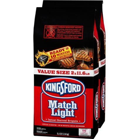 Kingsford Match Light Charcoal (11.6 lb. bags, 2 ct.)