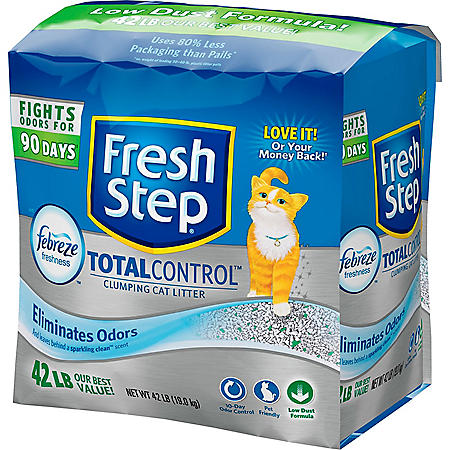 Fresh Step Total Control Scented Litter with the Power of Febreze™, Clumping Cat Litter (42 lbs.)