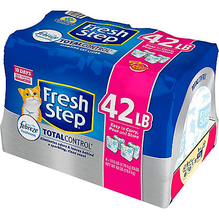 Fresh Step Total Control Scented Litter with the Power of Febreze, Clumping Cat Litter (42 lbs.)