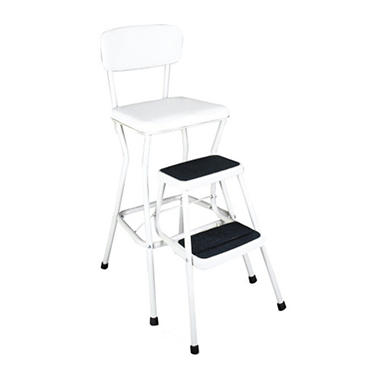 Cosco Retro Chair with Pull-Out Steps - White