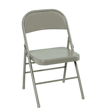 Cosco All Steel Folding Chair, Select Color - 4 pack