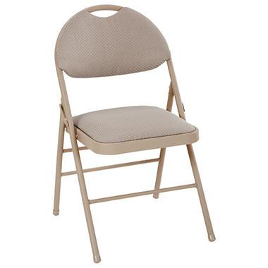 Cosco   Fabric Comfort Folding Chair   Tan