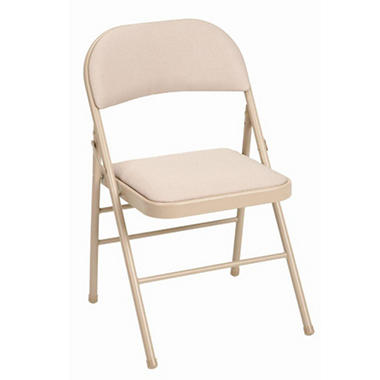 Cosco Fabric Padded Folding Chair, Tan