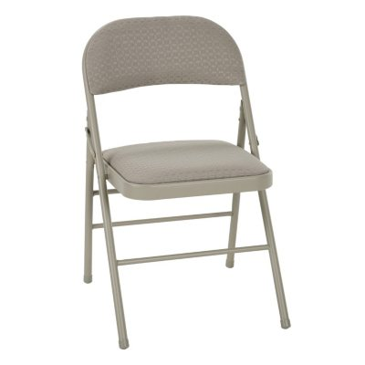 Cosco Deluxe Padded Folding Chair, Tan   4 Pack