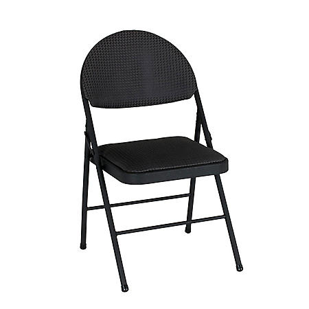 XL Comfort Folding Chair, Black Fabric (4-pack)