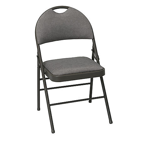 Cosco Superior Comfort Commercial Fabric Folding Chair with Scotchgard Protector, Light Brown (Club Pickup Only)